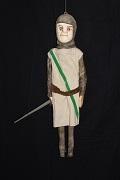 Un guerrier anglais, marionnette à tringle